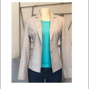 EXPRESS TAN PLAID BLAZER SZ 0